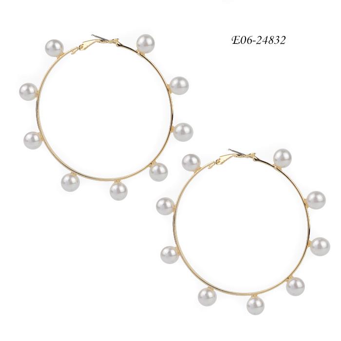 Cultured pearl earrings wholsaler China