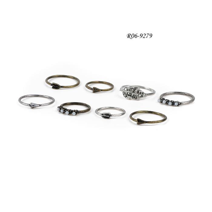 china chain band ring set factory R06-9279