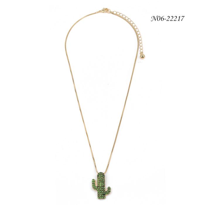 Fashion Cactus Pendant Nekelace N06-22217