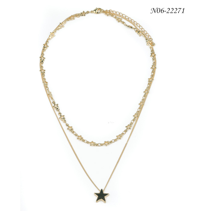 Fashion Alloy Pendant Necklace N06-22271