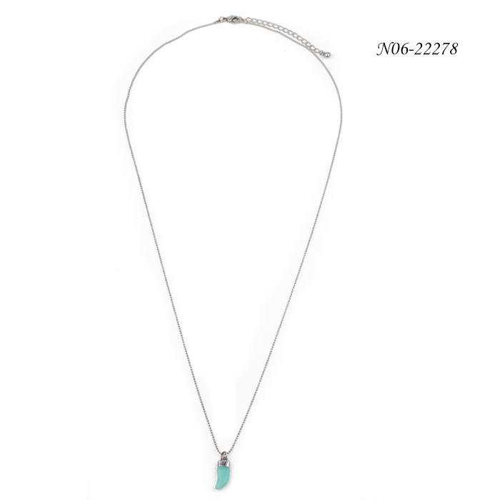 2019 New Style Metal Turquoise Pendant Necklace N06-22278