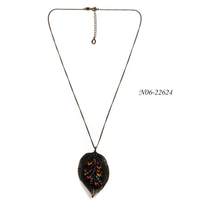 wholesale clavicle pendant necklace set N06-22624