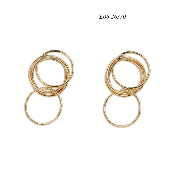 imitation pearl hoop earrings E06-26370