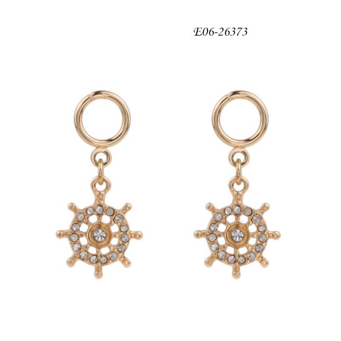 cubic zirconia stud earrings E06-26373