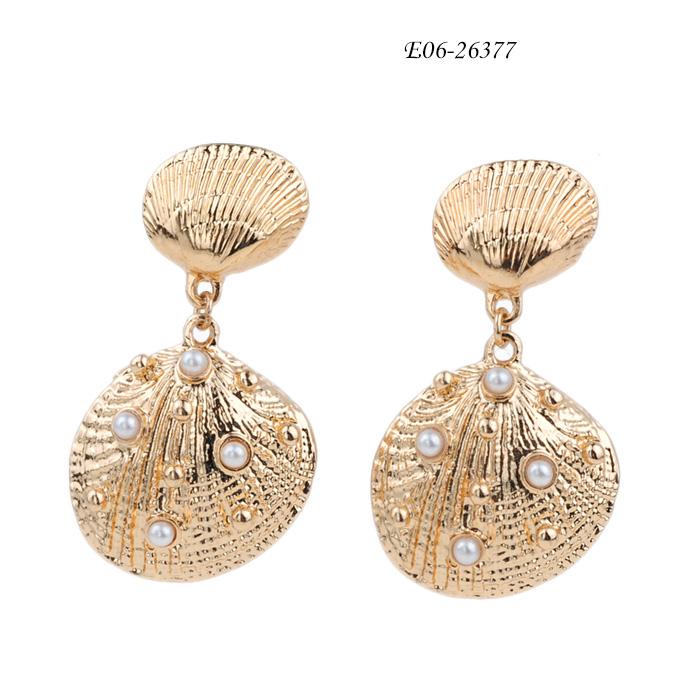 stainless steel drop earrings E06-26377